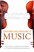 Oxford Dictionary of Music, front cover