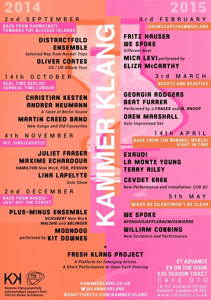 KammerKlang Season 14-15